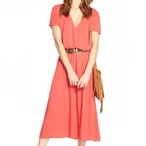 WAYF by NORDSTROM Midi Blouson Dress in Savvy Pink